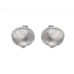 shell stud silver