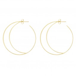 earring RISING MOON gold
