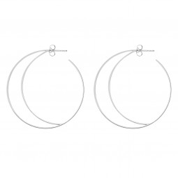 earring RISING MOON silver