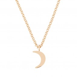 necklace HALF MOON rosé