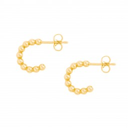 ID earring # 6 mini gold