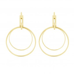 earring NYC EXTENDED gold