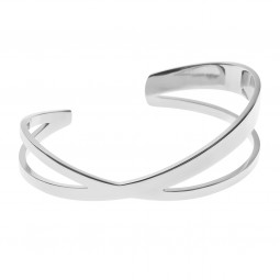 bangle CRISS-CROSS silver
