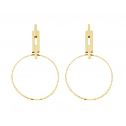 earring NYC gold