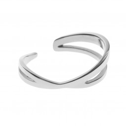 ring CRISS-CROSS silver