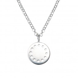 ID necklace # 2 silver