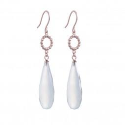 ID earring # 1 aqua chalzedony
